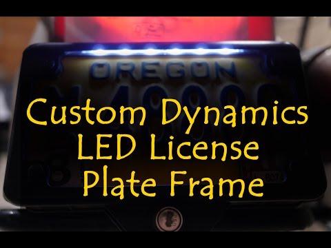 Custom Dynamics LED License Plate Frame