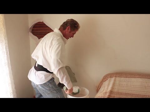 Repair Interior plaster walls hairline cracks caused by settling issues