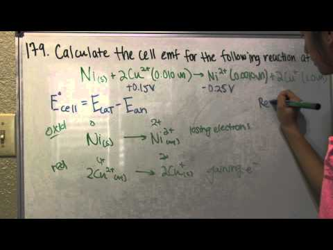 Calculating Cell EMF - Problem 179
