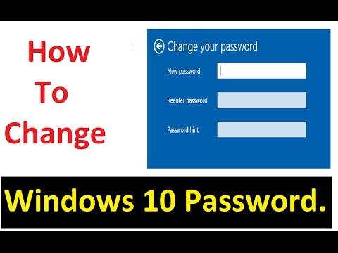 Change Windows 10 Password. (Hindi-Urdu)