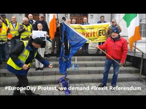 #EuropeDay - Burning the EU flag in Cork