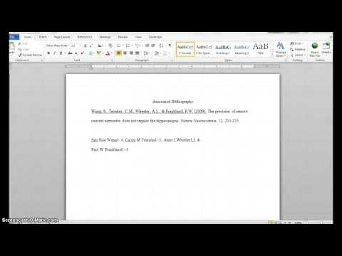 Creating an APA Format Annotated Bibliography