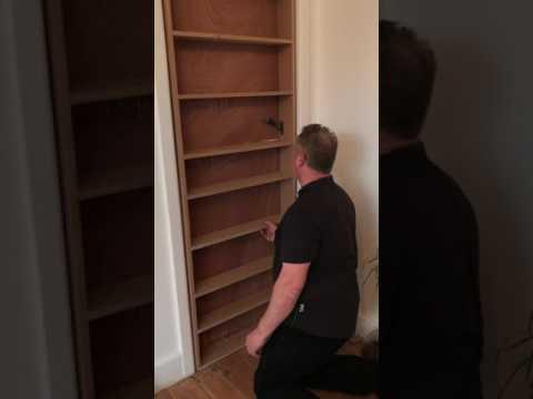 how to build a hidden bookcase door the irish way part 2