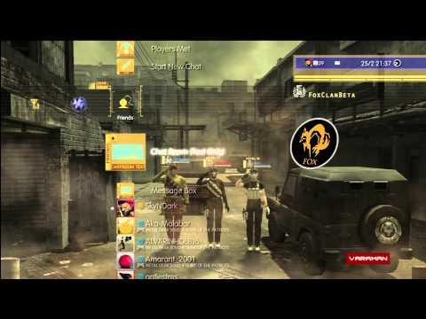 Metal Gear Online - Dynamic PS3 Theme