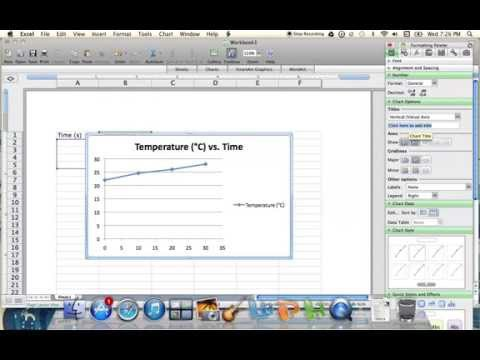 Plotting Temperature vs. Time Graph Using Excel