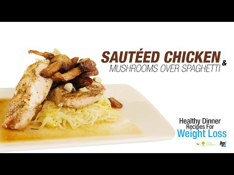 Sauteed Chicken and Mushrooms - Healthy Dinner Recipes for Weight Loss - BPI Sports
