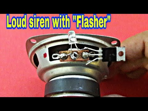 Siren & RGB LED Flasher (using only 2 part)