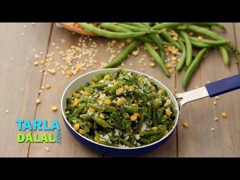 French Beans Foogath by Tarla Dalal