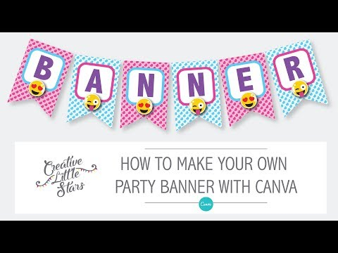 How to make an emoji party banner with canva