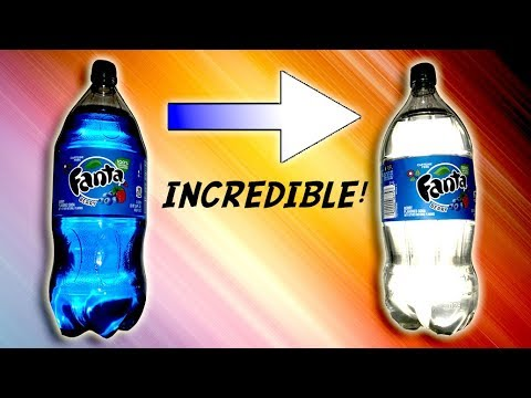 How to Make Soda INVISIBLE - DARK TO CLEAR!
