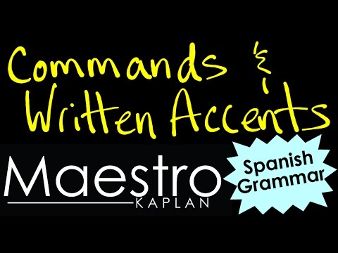 Written Accents and Commands