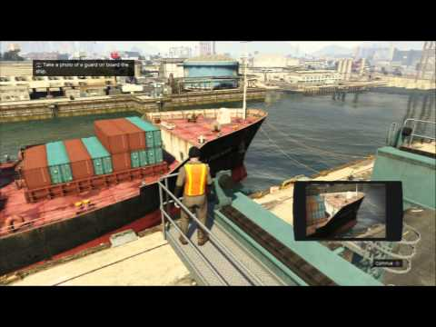 Grand Theft Auto V - Scouting The Port: Take Pictures on Catwalk Tutorial X Take Photo, Square Send