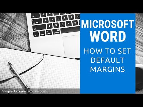 Tutorial: How to Set Default Margins in Microsoft Word 2013
