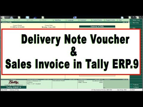 How to Pass Delivery Note Voucher and Sales Invoice in Tally ERP.9  (Latest Release)