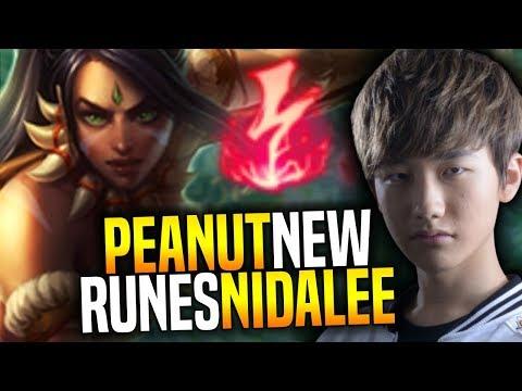 SKT T1 Peanut Showing his Nidalee Jungle so OP with the New Runes in Preseason 8! | SKT T1 Replays