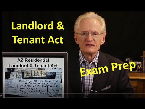 53 Landlord-Tenant Act, Property Mgt. & HOAs: Arizona Real Estate License Exam Prep