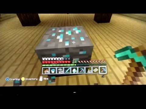 Minecraft Xbox 360 Edition: 28 diamonds in 11 Ores with the Fortune 3 Pickaxe!