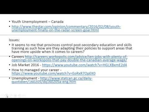Government Policies - Unemployment Insurance - Canada