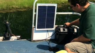 How to use Solar to Power a Boat Trolling Motor