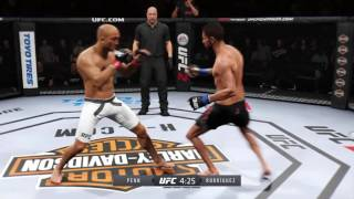 EA UFC 2 Yair Rodríguez vs B.J. Penn (2 finishes in one fight)