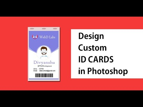 Company ID Card Design with Photoshop | School I Cards | Business ID cards | WebDLabs