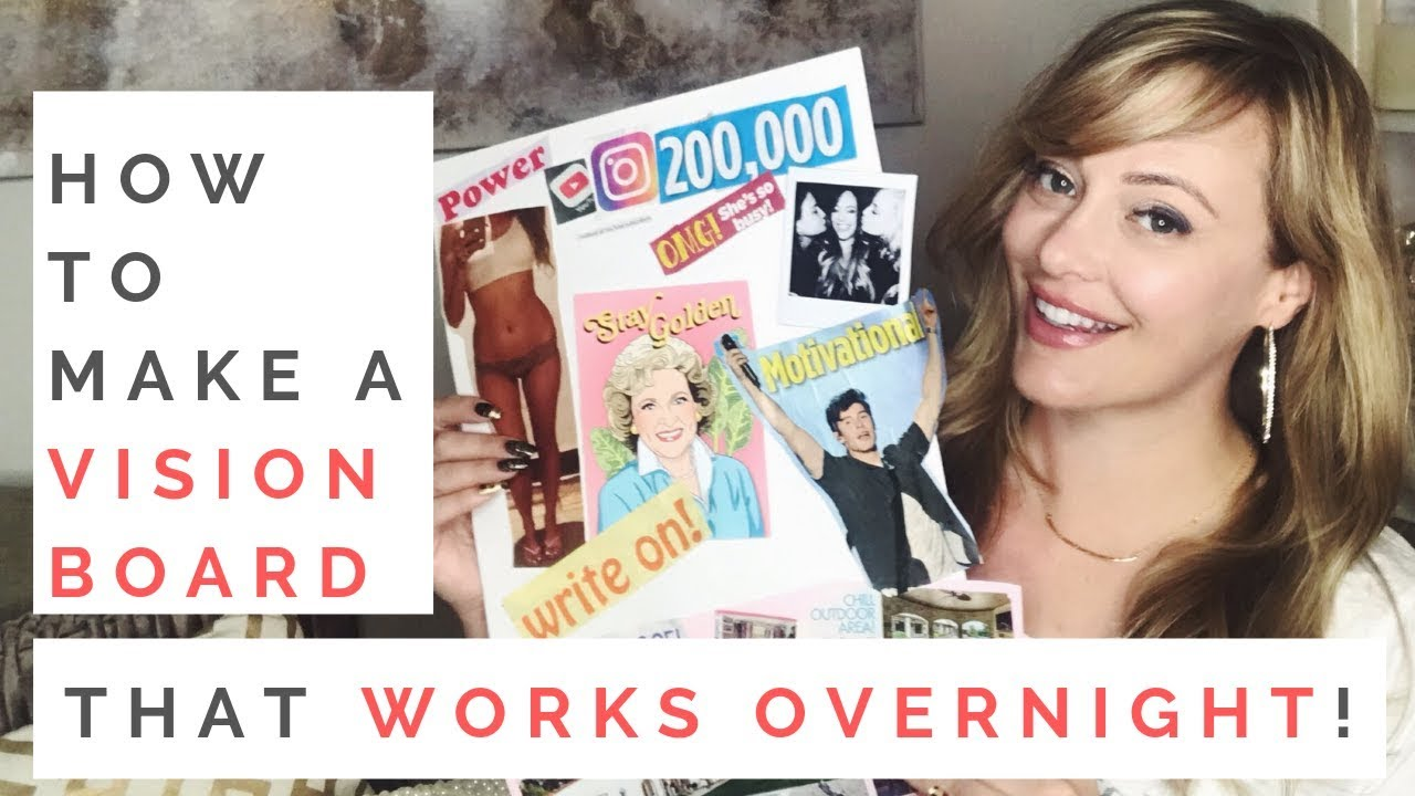 MANIFESTATION 101: How To Make A Vision Board That Really Works! | The Law Of Attraction