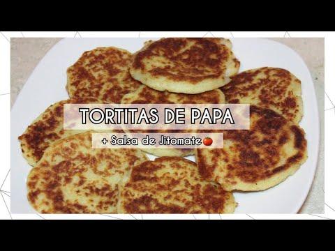 TORTITAS DE PAPA Y QUESO + SALSA DE JITOMATE