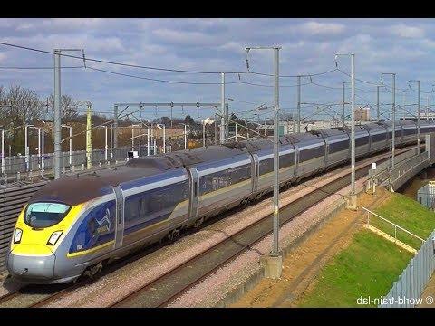Some trains in London (EUROSTAR, Southeastern Railway, Heathrow Express, Heathrow Connect, C2C)