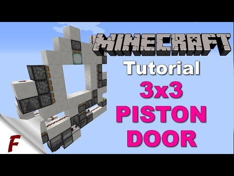 ✅ Minecraft Tutorial 3x3 minecraft Piston Door using a 2x1 Hipster Door. Opens from both sides.