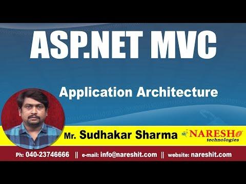 Application Architecture In MVC | asp.net MVC Tutorials | By Mr. Sudhakar Sharma