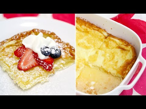 How to Make Finnish Pancakes | Oven Pancakes | Oven-Baked Pancake | RECIPE