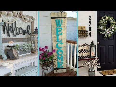 ❤ DIY Shabby Chic Style Front Porch Welcome Signs ❤ | Home decor & Interior design| Flamingo Mango