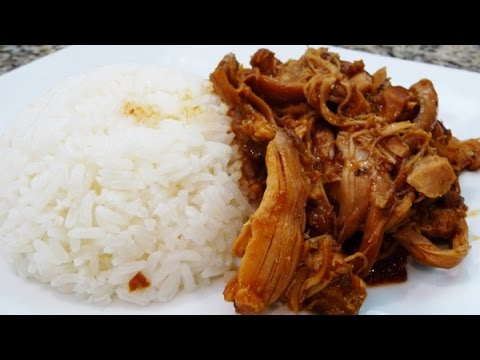 Slow Cooker Pulled Spicy BBQ Chicken, easy recipe