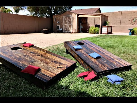 How to build a Rustic Cornhole set!