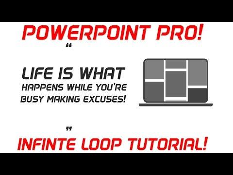 PowerPoint Infinite Loop Screen Animation Tutorial | PowerPoint Pro Tutorial Video!