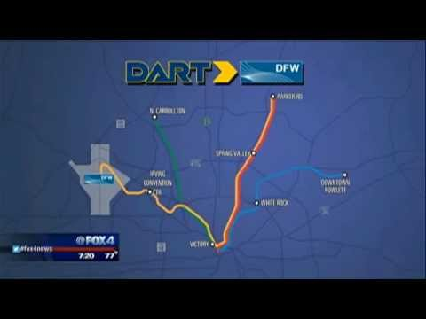 DART DFW Airport Station opens Aug 18