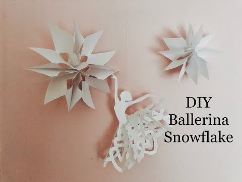 Paper snowflake ballerina DIY, easy Christmas Decorations Crafts
