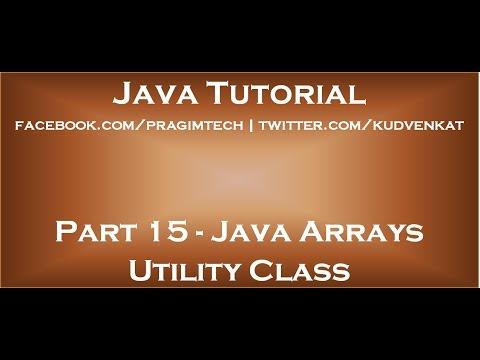 Java array utility class