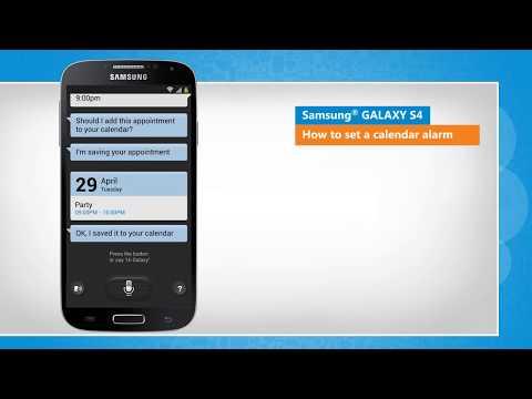 How to Set a calendar alarm in Samsung® GALAXY S4