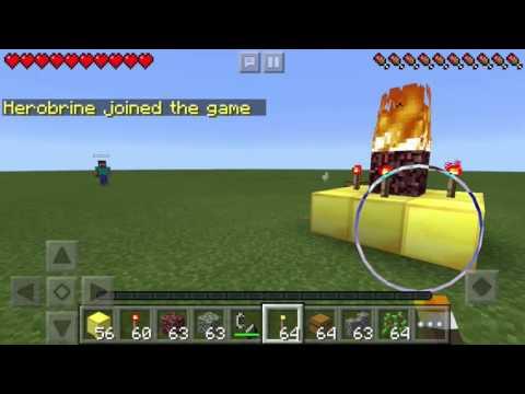How To Spawn Herobrine In Minecraft Pocket Edition