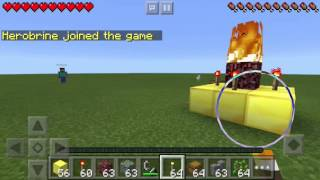 How To Spawn Herobrine In Minecraft Pocket Edition Fake