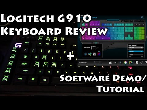 Logitech G910 Mechanical Keyboard Review/Software Tutorial