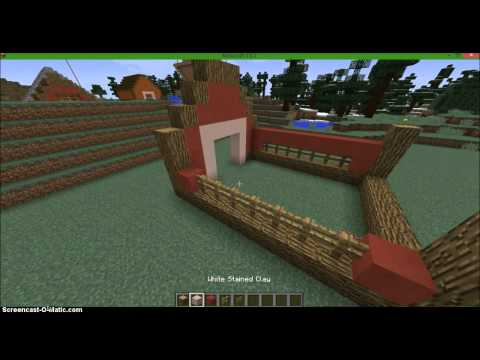 How to build a simple minecraft barn