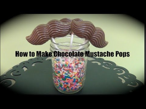 How to Make Chocolate Mustache Pops