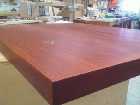 MASIVE MAHOGANY ISLAND TOP from OLD TABLE