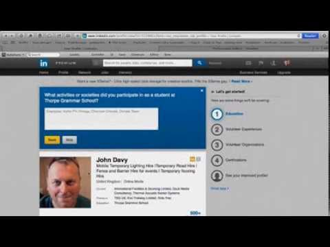 How to Edit your LinkedIn Profile