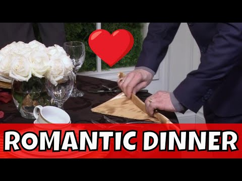 Romantic Place Settings | Planning a Romantic Dinner for Two