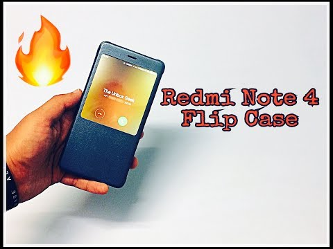 Redmi Note 4 Smart Flip Cover | Blue Grey | Unboxing & Review (INDIA)