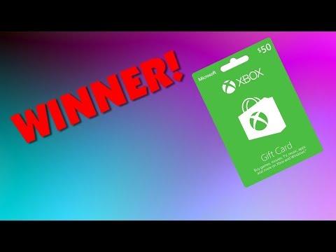 $50 Xbox Gift Card WINNER!!!!