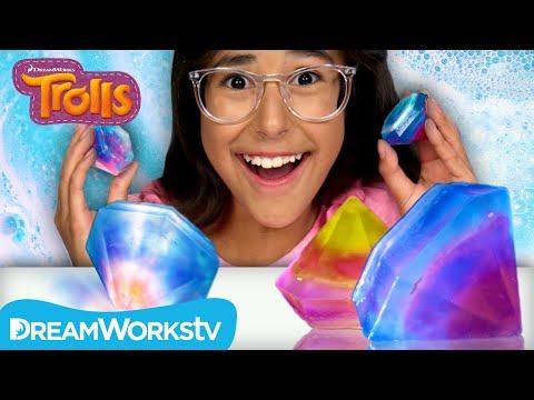 Rainbow Gem Soap | TROLLS DIY